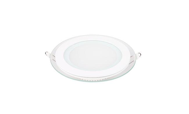 12W 玻璃LED面板灯 圆形 开孔125mm 白光中性光黄光