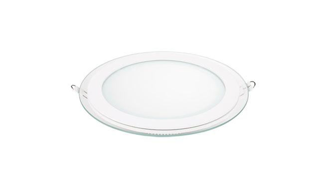 18W 玻璃LED面板灯 圆形 开孔165mm 白光中性光黄光
