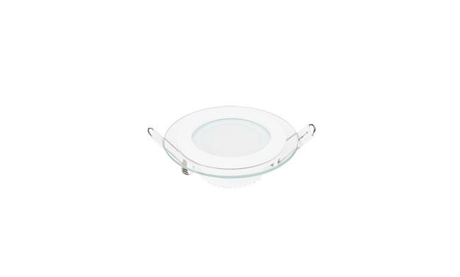 6W 玻璃LED面板灯 圆形 开孔85mm 白光中性光黄光