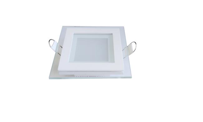 玻璃LED面板灯 6W 方形 开孔85X85mm 白光中性光黄光