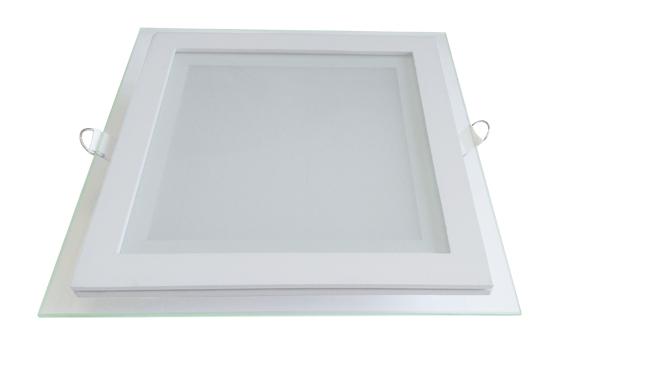 玻璃LED面板灯 18W 方形 开孔165X165mm 白光中性光黄光