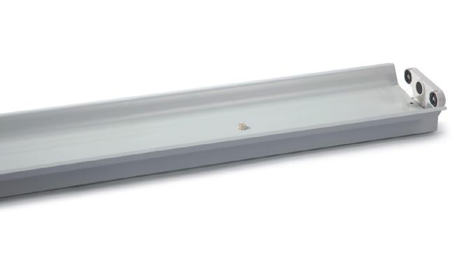 T8  2X18W LED灯管支架  单支身双支带罩支架1232X165X70mm