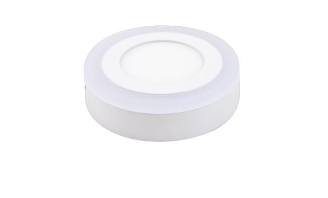 明装LED面板灯 9W双色面板灯 可分段控制光色