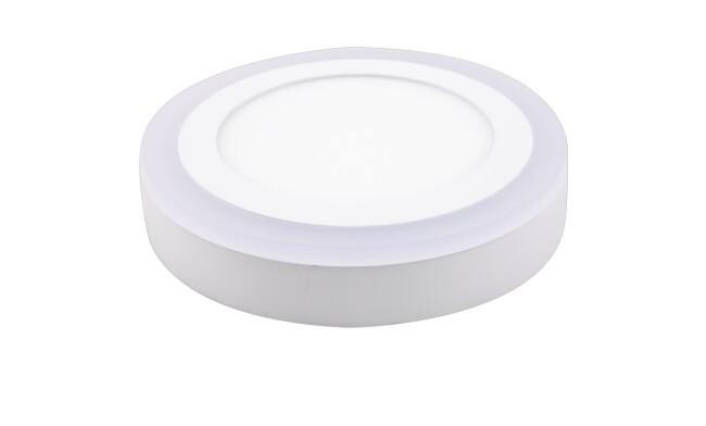 明装LED面板灯 16W双色面板灯可分段控制光色