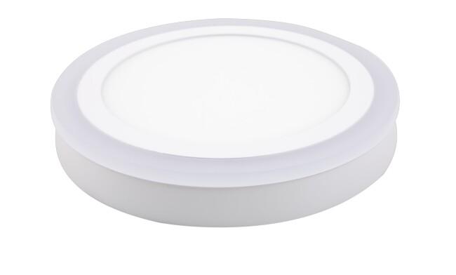 明装LED面板灯 24W双色面板灯 可分段控制光色