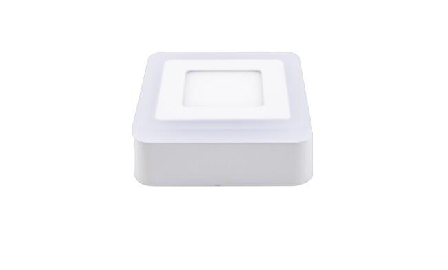面板灯 5W LED方形双色面板灯 吸顶式  可分段控制光色
