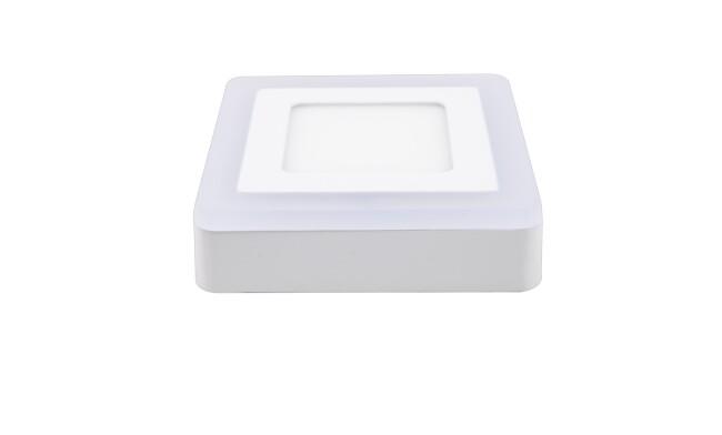 面板灯 9W LED方形双色面板灯 吸顶式 可分段控制光色