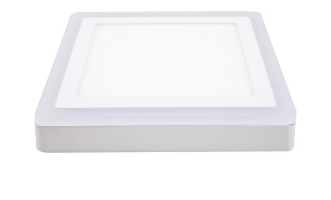 面板灯 24W LED方形双色面板灯 吸顶式 可分段控制光色