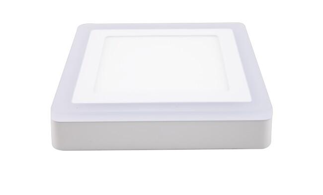 面板灯 16W LED方形双色面板灯 吸顶式 可分段控制光色