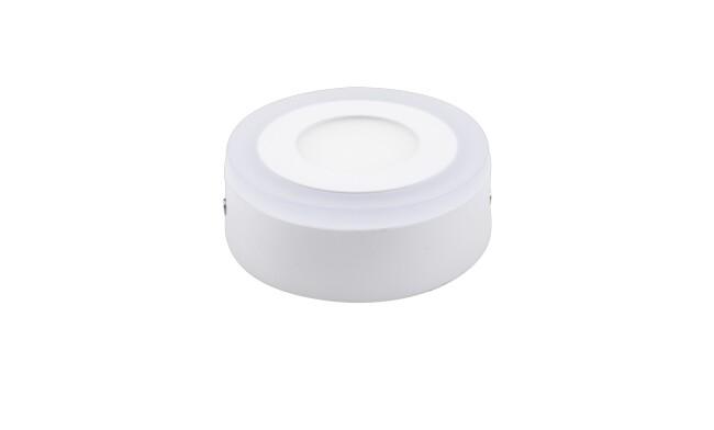 明装LED面板灯 5W双色面板灯 可分段控制光色