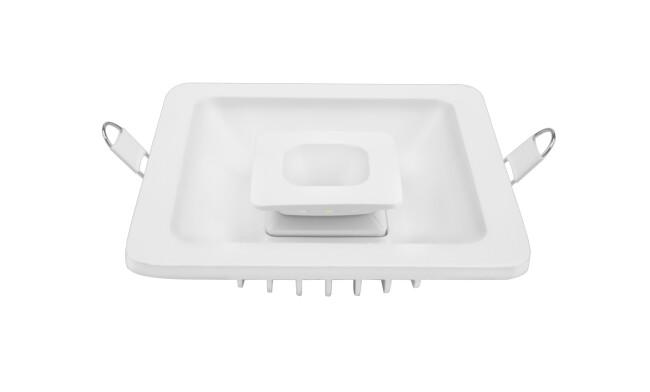 LED 14W双色方形漫反射筒灯 开孔100*100mm 可分段控制光色