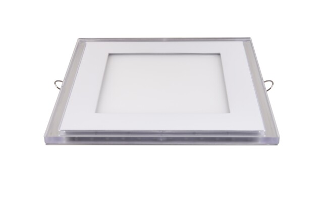 LED面板灯 15W超薄双色方形面板灯 开孔140x140mm 白光蓝边 可分段控制光色