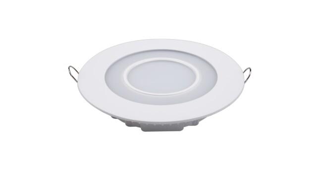 LED面板灯 12W圆形双色面板灯 开孔Φ138mm 白光蓝边 可分段控制光色