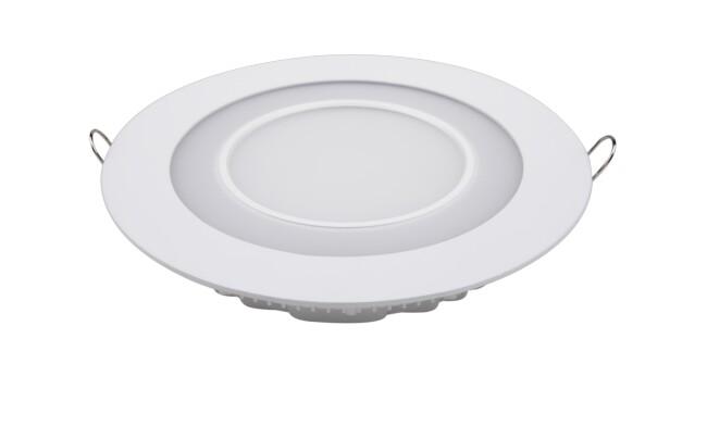 LED面板灯 16W圆形双色面板灯 开孔Φ163mm 白光蓝边 可分段控制光色