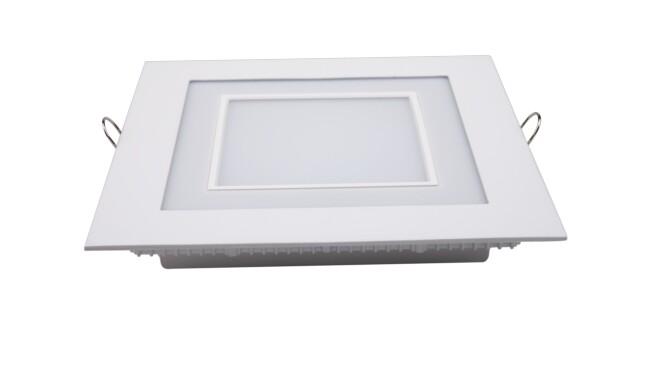 LED面板灯 16W方形双色面板灯 开孔163x163mm 白光蓝边 可分段控制光色
