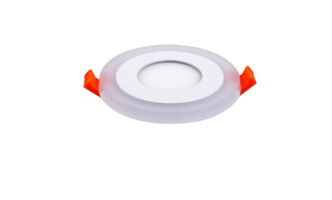 面板灯 5W侧发光超薄双色 LED面板灯 开孔Φ70mm 可分段控制光色
