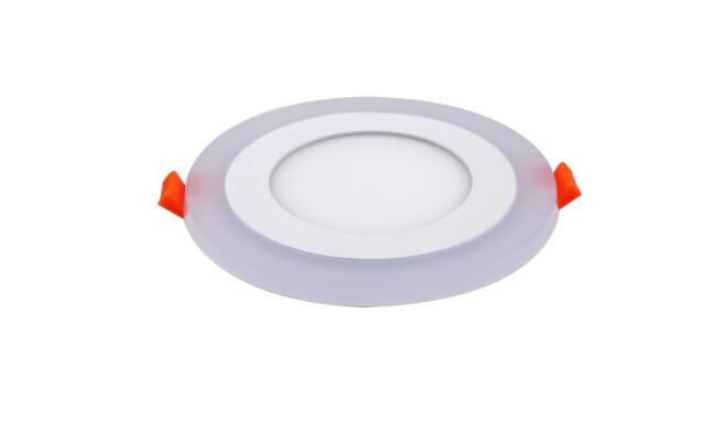 面板灯 9W侧发光超薄双色 LED面板灯 开孔Φ105mm 可分段控制光色