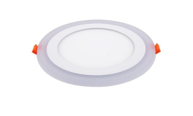 面板灯 16W侧发光超薄双色 LED面板灯 开孔Φ160mm 可分段控制光色