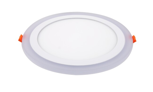 面板灯 24W侧发光超薄双色 LED面板灯 开孔Φ210mm 可分段控制光色