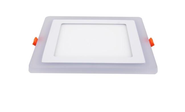 LED面板灯 16W侧发光方形双色面板灯 开孔160x160mm 可分段控制光色
