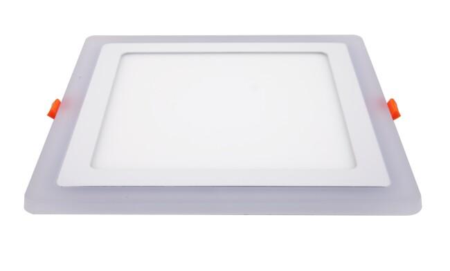 LED面板灯 24W侧发光方形双色面板灯 开孔210x210mm 可分段控制光色