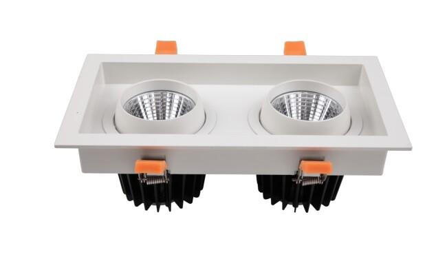 G14系列 2x15W 双头COB格栅射灯 开孔尺寸115x230mm