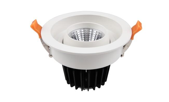 LED 15w COB嵌灯 开孔120mm 可350度旋转 黄光白光中性光