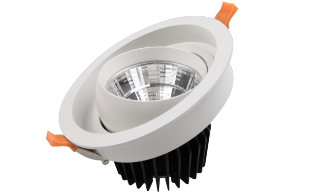 LED 25w COB嵌灯 开孔165mm 可350度旋转 黄光白光中性光