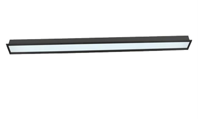 36W LED线槽灯 120X2400mm 黑色 白光中性光黄光