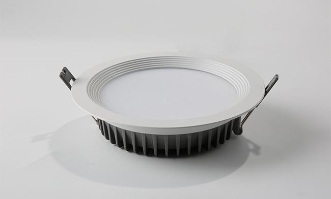 5寸双色筒灯  开孔 ¢160mm 调光调色LED筒灯