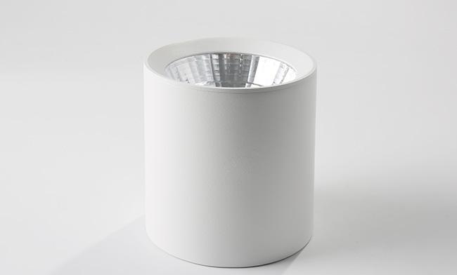 6寸双色明装筒灯 18W  调光调色LED筒灯