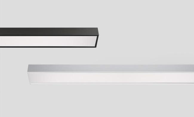 LED智能线条灯 1200x120x60mm 吸顶/吊装