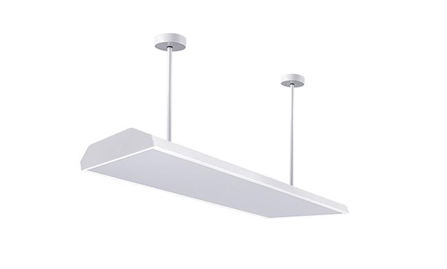 LED护眼底发光教室灯1200x300x130mm36w
